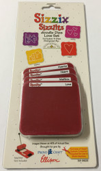 Sizzix Sizzlits, Dies Love Set - NEW, 38-9625