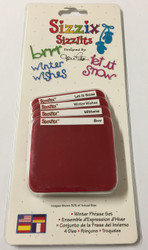 Sizzix Sizzlits, Dies Winter Phrase Set - NEW, 38-9754