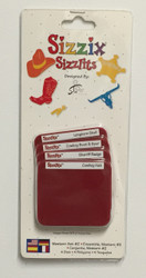 Sizzix Sizzlits, Dies Wester Set #2 -NEW, 38-9848