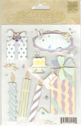 Dimensional Stickers, Birthday Theme, K&COMPANY - NEW, 554511