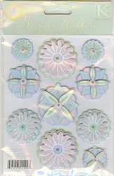 Juliana Medallions, Dimensional Stickers, K&COMPANY - NEW, 554023
