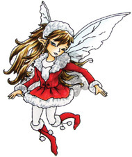 FAIRY Stamp Tinsley Cling Unmounted Rubber Stamp Little Darlings 2004 New
