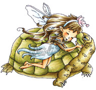FAIRY Stamp Turtle Lov Cling Unmounted Rubber Stamp Little Darlings MPN 2002 New