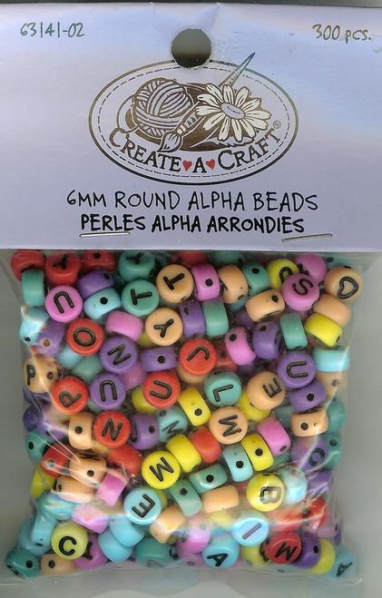 Multicolored Alphabet Beads