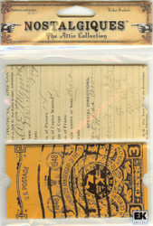 Postage Ticket Pockets, Embellishments EK SUCCESS - NEW, RSNA014