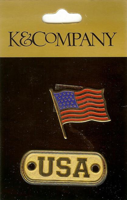 US Flag Medallion Charms