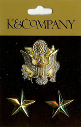 Army Insignia Charms, Embellishments K & COMPANY - NEW, 559509