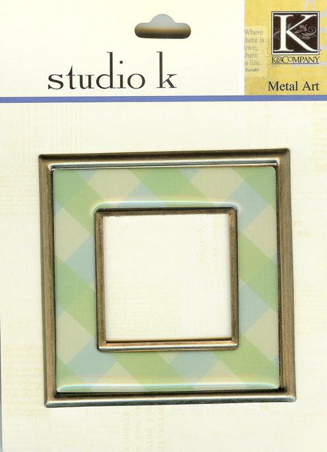 Studio K Square Frame Blue & Green Plaid