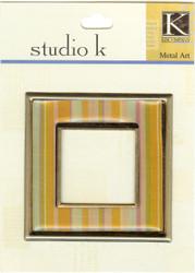 Studio K Square Frame Orange Striped
