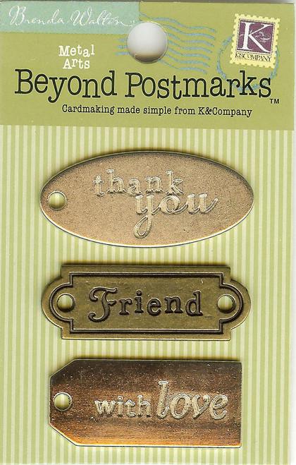 Beyond Postmarks Metal Word Charms