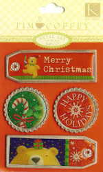 TC Christmas Metal Tags