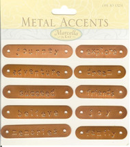 Copper Words Plates, Embellishments - NEW, 140547