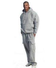 Grey Fleece Pants with Pullover
