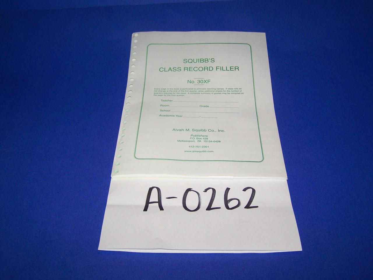 Squibb's Class Record Book No 18 Unused
