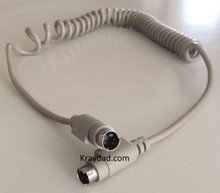 Apple Mac Macintosh Coiled Keyboard Cable 4 pin MM ADB NEW