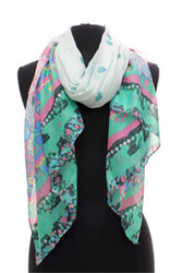 S3145 - Floral Print Oblong Scarf