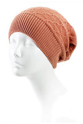 H4105 - Lightweight Diamond Pattern Slouchy Beanie