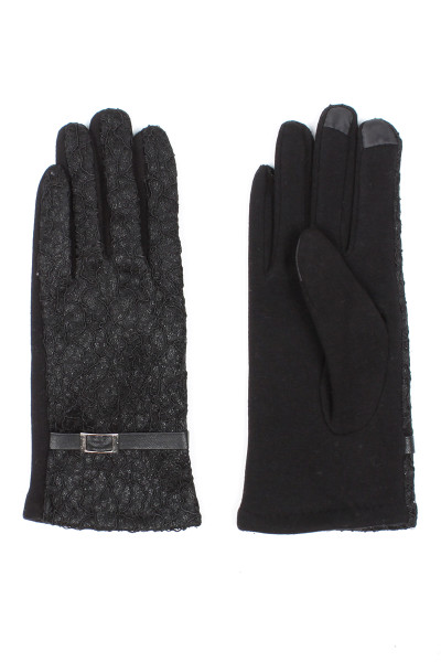 G5277 Ladies' Warm Lace Touch Screen Gloves - Black