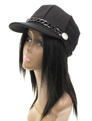 H1344 - Winter Fashion Cap With Chain