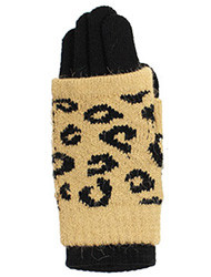 G4131 - Winter Double Layers Leopard Print Convertible Gloves