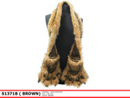 S1371B - Furry Animal Scarf with Claws - Lion