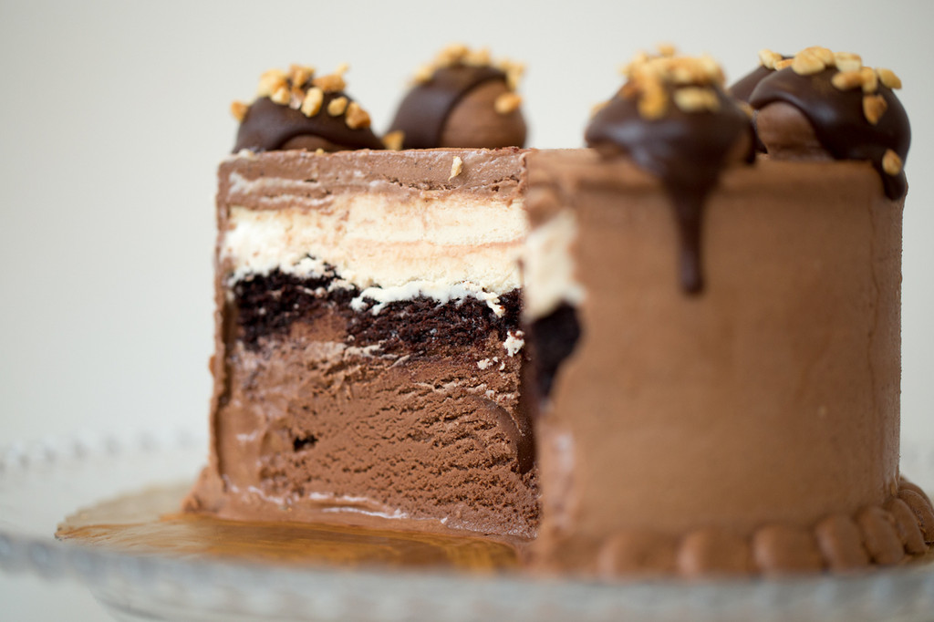 Peanut Butter Mud Pie Ice Cream Cake
