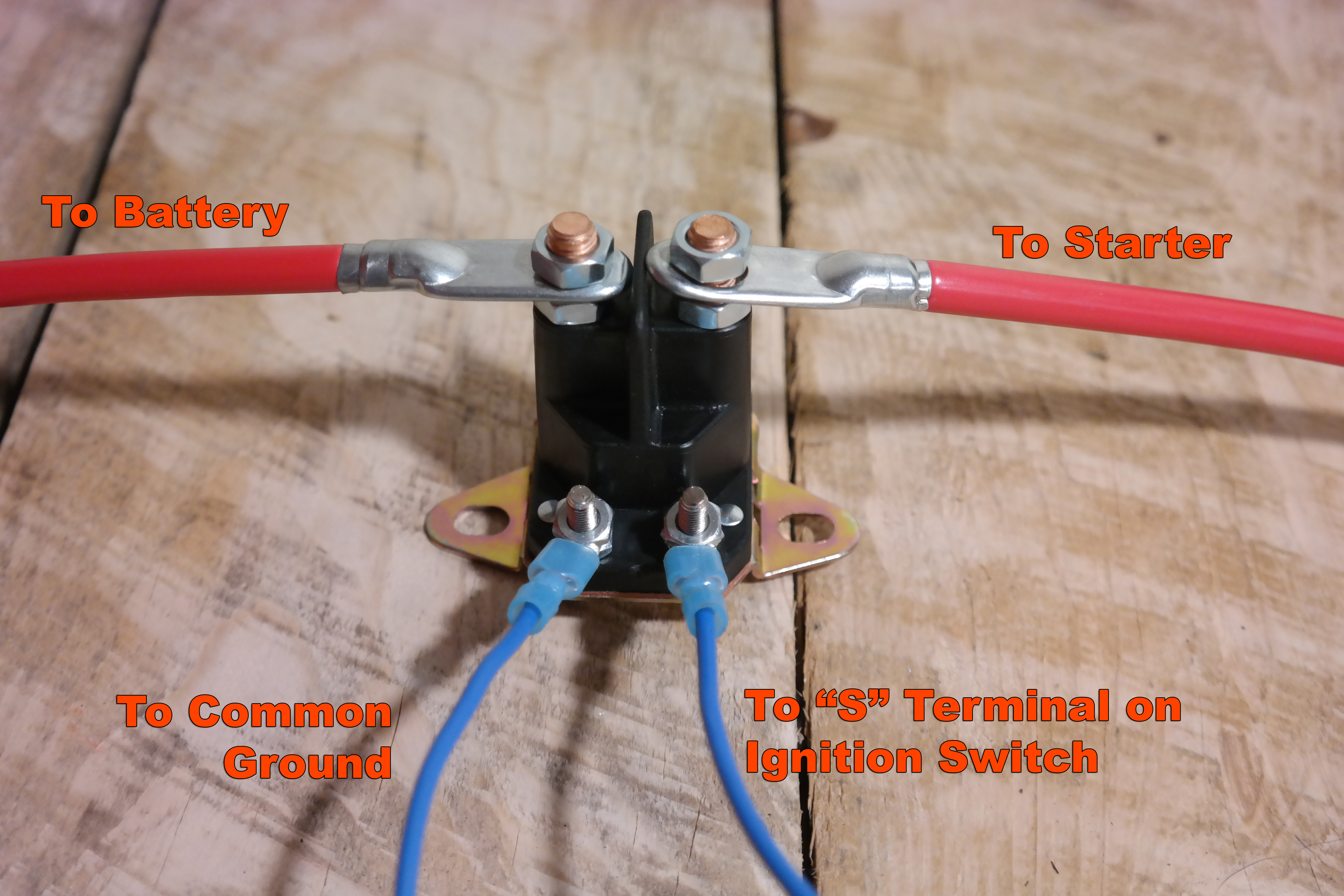 Starter Solenoid on Lawn Tractor Ignition Switch Wiring Diagram
