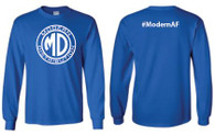 Modern Distribution #ModernAF Long Sleeve T-Shirt Blue