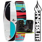 Hyperlite The Murray 144cm Wakeboard Package with Team Open Toe Boots