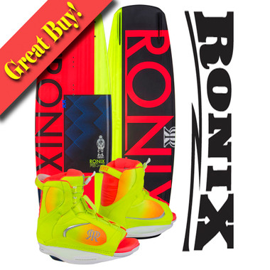 Ronix Quarter 'Til Midnight 135 cm Wakeboard Package with Luxe Boots 2016