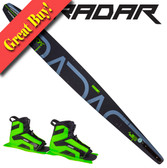 "Radar Alloy Vapor 68"" Slalom with Double Vector Boots - 2016"