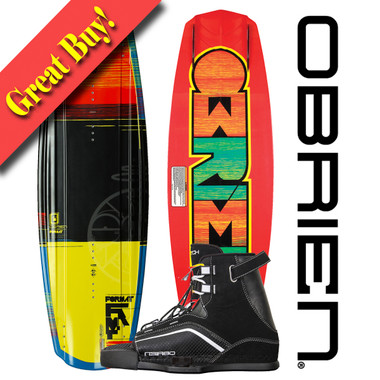O'Brien Format 142 Wakeboard Package with Clutch Bindings