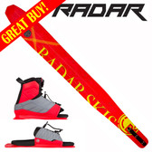 "Radar Women's Butter Knife Slalom 65"" with Lyric Binding & Adj Rear Toe Plate 2017 ON SALE!"