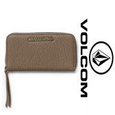Volcom Pinky Swear Zip Wallet - Vintage Brown