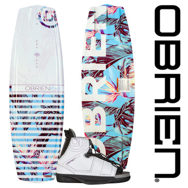 O'Brien Pixel 137cm Wakeboard Package With Nova Bindings