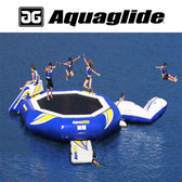 Aquaglide Supertramp 23' Water Trampoline with Swimstep, Blast, & I-Log