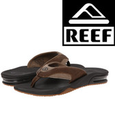 Reef Leather Fanning - Brown/Brown