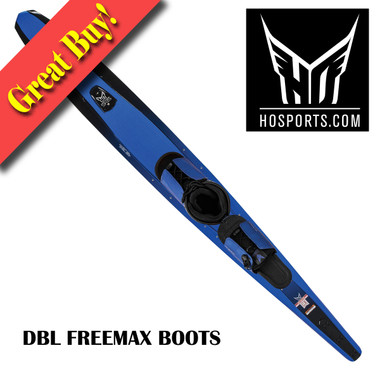 "2015 HO Sports CX 67"" Slalom Ski with Double Freemax Blue Boots"