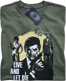 James Bond Live and Let Die T Shirt