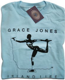 Island Life Grace Jones (Blue) T Shirt