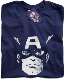 Captain America (Face) T Shirt
