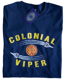 Colonial Viper T Shirt (Blue)