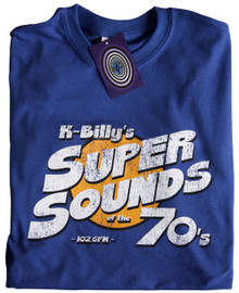 K Billy's Super Sounds of The 70's T Shirt (Blue)