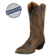 Ariat® Women's Heritage Western R Toe (Distressed Brown)