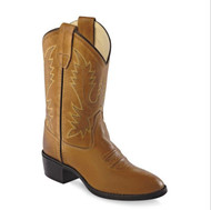 Old West Kids Tan Western Boots