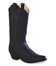 Old West Women's Black Western Boots