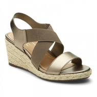 Vionic Ainsleigh Wedge Sandal (Dark Taupe)