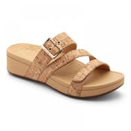 Vionic Rio Platform Sandal (Gold Cork)