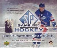 2005-06 Upper Deck SP Game Used Hockey
