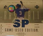 2001 Upper Deck SP Game Used Baseball